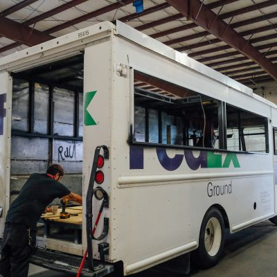 trailer-king-builders-customizing-inside-of-fedex-mobile-truck